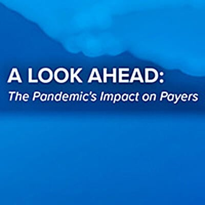 A Look Ahead: The Pandemic's Impact on Payers thumbnail with eviti blue